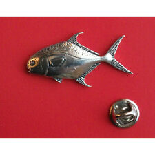 English Pewter  Fish Fishing PERMIT Pin Badge Tie Pin / Lapel Badge F45