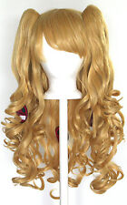 20'' Lolita Wig + 2 Pig Tails Set Butterscotch Blonde Gothic Sweet