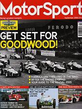 Motor Sport Sep 2005 - Goodwood, McLaren MP4/4, Ayrton Senna, Patrick Tambay
