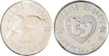 "TY Beanie Baby BBOC Mint SILVER COIN 1.5"" Splash the Killer Whale!"