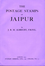 INDIA.  The Postage Stamps of Jaipur by J. R. M. Albrecht with illustrations.
