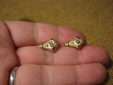 ███►sehr alte Ohrringe / 585er Gold um 1830 -- Biedermeier --
