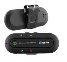 Wireless Multipoint Bluetooth Hand Free Car Kit Speakerphone Speaker Visor Clip