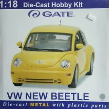 Gate VW New Beetle Coupe '98 SILVER Car Hobby Model Kit Die-Cast 1:18 Scale NEW