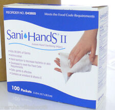 Sani-Hands Hand Sanitizing Wipes D43800 Packets 100 COUNT Box