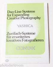 Duo-Line Systems for Yashica and Contax Accessories - English German - USED B35