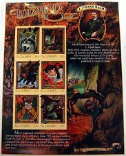 GAMBIA WIZARD OF OZ STAMPS SHEET OF 6 DOROTHY WITCH TIN MAN LION FOREST wizoz