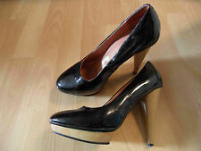 PEPE Jeans stylische Lackleder Pumps High Heels schwarz Gr. 37 TOP ZC616