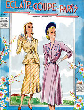 1948 Spring Eclair Coupe Paris 100 Models with Patterns REPRINT!