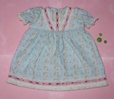 """Handmade Doll Clothes for 20"""" - 22"""" Baby Dolls - """"Dream Big"""" Blue Long Nightgown"""