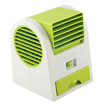 Mini Handheld Portable Fan Air Conditioner Water Cooler USB, Green