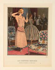 """La coiffure réparée MODE FASHION """"Gazette du Bon ton"""" pierre brissand 1921"""