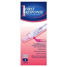 ツ FIRST RESPONSE EARLY RESULT IN-STREAM PREGNANCY TEST 99% ACCURATE - 3 TESTS