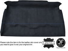 BLUE STICH ROOF HEADLINING PU SUEDE COVER FITS LAND ROVER DEFENDER 90 TRUCK CAB