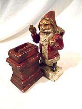Vintage Cast Iron Santa Claus Mechanical Bank-Shepard's Hardware-Original paint