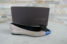 BOTTEGA VENETA Ballerinas Gr 38,5 Halbschuhe shoes scarpe blue neu UVP 490€