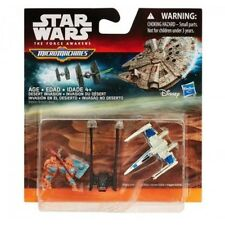 STAR WARS: DESERT INVASION- 3 MICROMACHINES - X-Wing / Kylo Shuttle / Luggabeast