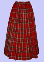 Ladies Victorian skirt Royal Stewart tartan costume fancy dress Hogmanay