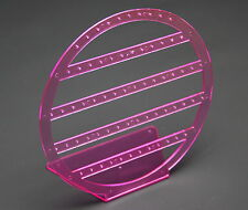 PINK ROUND ACRYLIC DROP STUD EARRING JEWELLERY JEWELRY DISPLAY STAND RACK