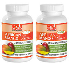 African Mango Lean 1200mg Extract w/ Resveratrol, Acai Fruit (2 Bottles)