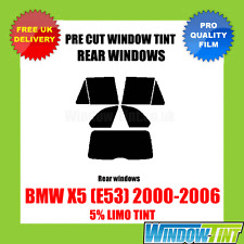 BMW X5 (E53) 2000-2006 5% LIMO REAR PRE CUT WINDOW TINT