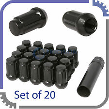 "(20) Black Wheel Lug Nuts | 1/2""-20 Threads 