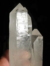 A HUGE! Double Terminated LASER Quartz Crystal TWIN Found in Brazil 1145gr e