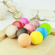 Candy Color Soft Dessert Macaron Squishy Cute Cell Phone Charm Pendant lem