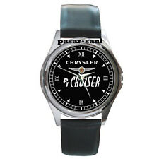 NEW CHRYSLER PT CRUISER Custom Round Metal Leather Men's Watch Watches