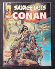 1974 SAVAGE TALES Magazine #4 VF- Featuring CONAN Barry Windsor-Smith Neal Adams