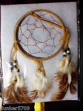 DREAM CATCHER WITH FEATHERS AND BEADS WALL HANGING DECORATION NEW IN PACKAGE