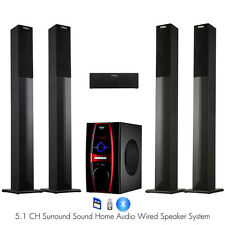 Frisby FS-6600 5.1 Channel Home Theater Tower Speaker System w/ Bluetooth USB/SD