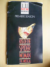 NEW MUSICALS Suny Purchase PREMIERE SEASON- KISS OF THE SPIDER WOMAN THE MUSICAL