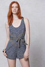 Anthropologie Melati Floral Navy Romper Size 10 Jen Kao - New Summer Jumpsuit