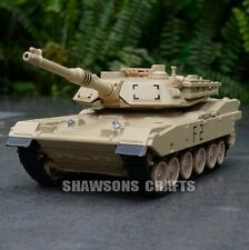 DIECAST METAL 1:48 MILITARY MODEL TOYS SOUND & LIGHT ABRAMS M1A2 TANK W/O BOX