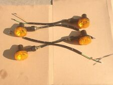 NEW 4 X INDICATORS TURN SIGNAL AMBER MOTORCYCLE BLINKER LIGHTS FIRST CLASS POST