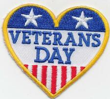 Girl Boy Cub VETERANS DAY Heart Fun Patches Crests Badges SCOUTS GUIDE Iron On