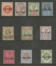 ZULULAND SG1-10 THE 1888-93 QV GB O/PRINT SET TO 1/-MOUNTED  MINT CAT £590