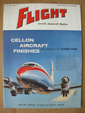 FLIGHT AIRCRAFT SPACECRAFT MISSILES MAGAZINE JULY 29th 1960 AVRO 748