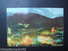 old China hk postcard,aberdeen-night scene with floating restaurant,no N913