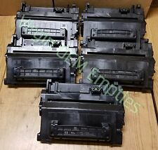 5 Virgin Genuine Empty HP 90A Laser Toner Cartridges FREE SHIPPING CE390A