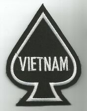 VIETNAM DEATH CARD ACE OF SPADES  MILITARY PATCH - VIETNAM SPADE
