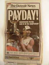 Detroit News June 16 2004 Detroit Pistons Vintage Championship Newspaper