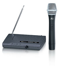 Wireless Rechargables Microphones AKJ 6110, microfono, karaoke, GTD Audio, vhf