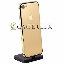 Apple iPhone 7 256GB Black Custom 24 K 24ct Karat Gold