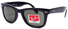 Ray-Ban RB 4105 601/58 54mm Folding Wayfarer Black / Green Polarized Lens