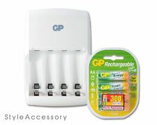 Genuine Safety GP ReCyko Value Charger with AA Rechargable Batteries Bundle Kit