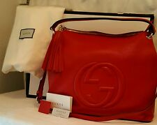 Authentic Gucci Soho Hobo RED Large Shoulder Bag...retails at $1980