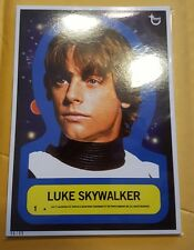 2015 Topps Star Wars Jumbo 1977 Sticker Complete Blue Set RARE #d/49 w/Fisher
