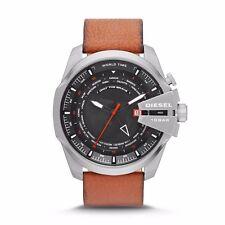 Diesel DZ4321 Mega Chief World Time Men's Brown Leather Quartz Watch - RRP £ 219